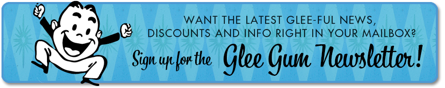 Glee Gum Newsletter Sign-Up Banner