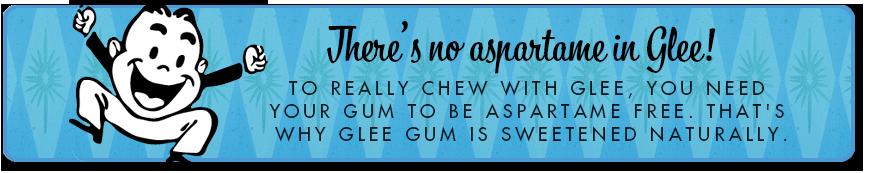 Aspartame Free Gum Banner