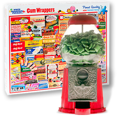 Gum Wrappers Puzzle and Gum Dispenser from Glee Gum