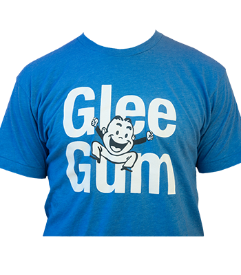 Glee Gum Tee Shirt - Blue