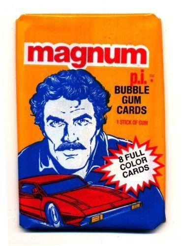 Magnum PI Bubble Gum Cards