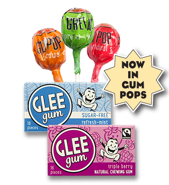Glee Gum and Glee Gum Pops