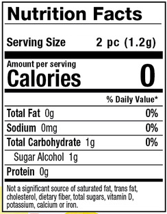Nutrition Facts - Tarts