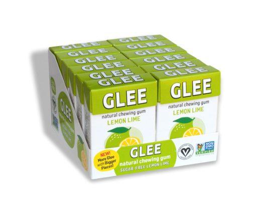Glee Gum Display Sugar-Free Lemon Lime