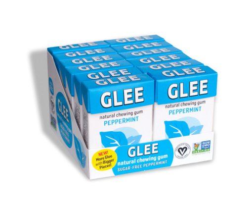 Glee Gum Display Sugar-Free Peppermint