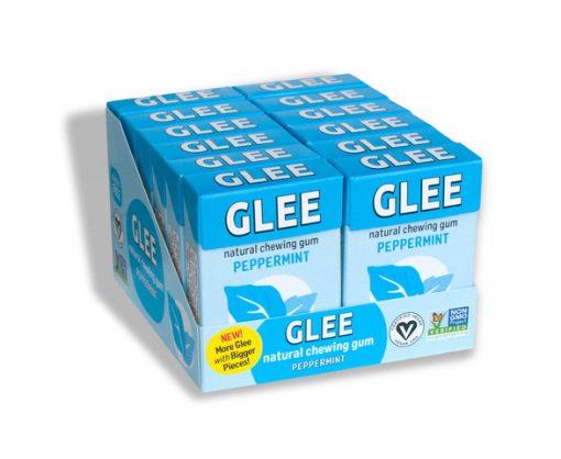 Glee Gum display Peppermint